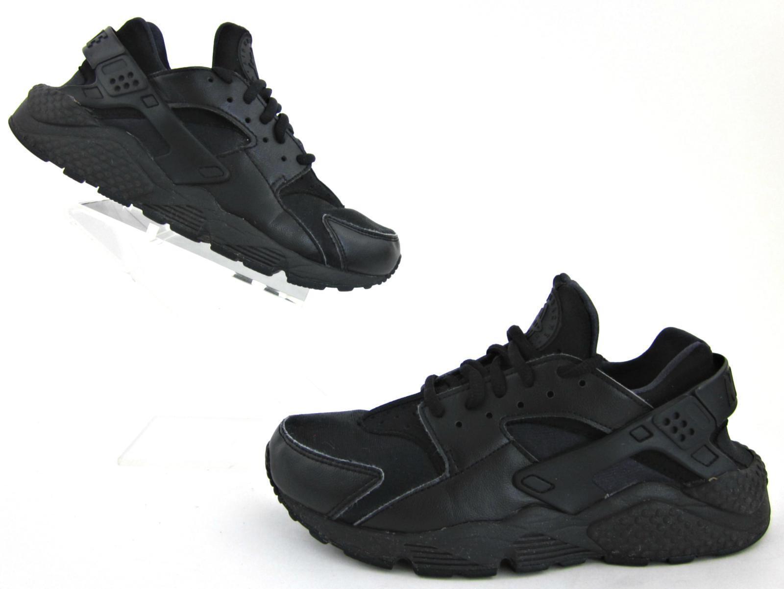 Nike Air Huarache Run Fitness Shoes Black/Black Sz 7.5 Run Small Fit 6-6.5