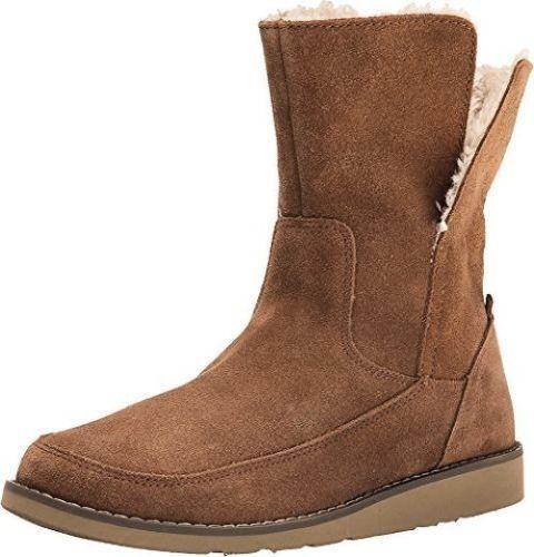 NEU sanuk 9.5 BOOTS BOOTIE Schuhe Leder Drop Top Suede 95 Retail