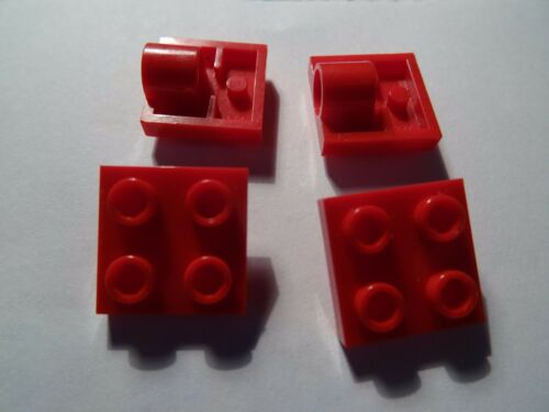LEGO RED  2 x 2 MODIFIED PLATE WITH PIN HOLE  PART 2444