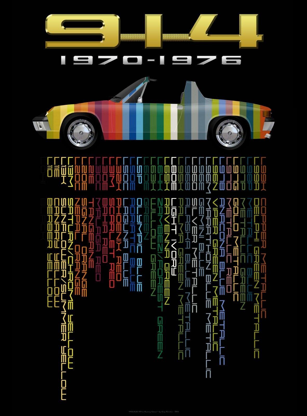 "18"" x 24/"" Giclee PORSCHE 944 TURBO SPORTS CAR AD ART POSTER REPRINT"