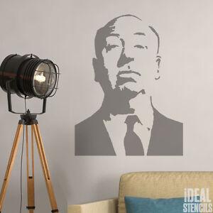 Détails Sur Alfred Hitchcock Pochoir Décoration Murale D Intérieur Art Artisanat Peinture