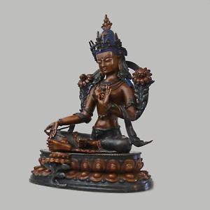 Tara-Vert-Statue-de-Bouddha-034-Fin-Qualite-034-Braun-Figurine-Nepal