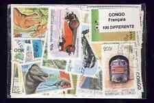 Congo Français - French Congo 100 timbres différents