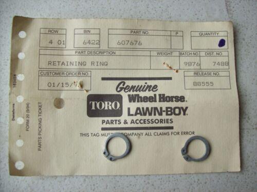Genuine Toro 607676 Retainer Ring ~ Lawn Boy ~ Quantity of 2