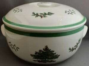 SPODE MADE IN ENGLAND COVERED CASSEROLE SERVING BOWL-CHRISTMAS TREE   eBay