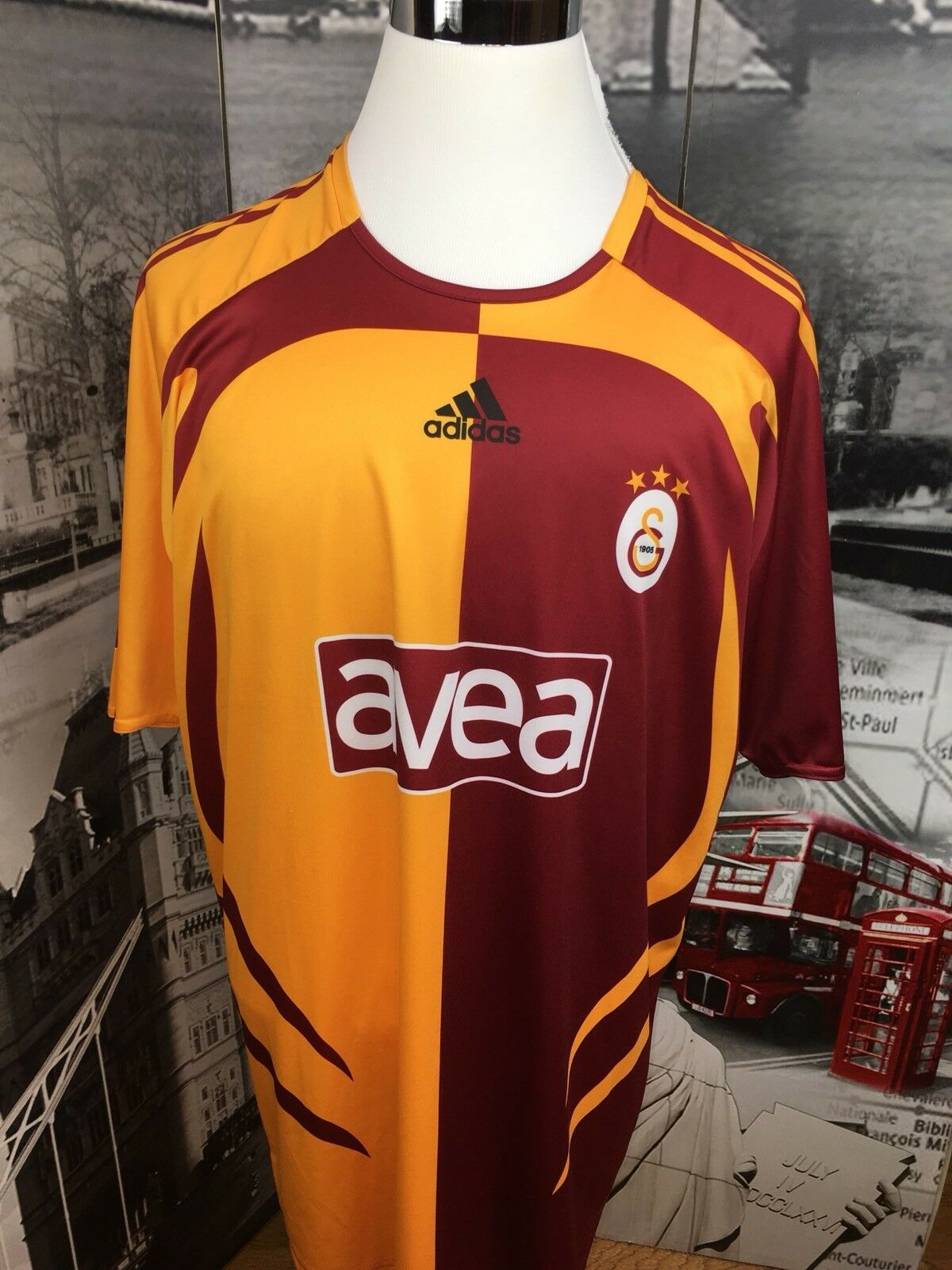 Adidas 2XL Soccer Jersey Football Galatasary Turquie Avea Justin 40 Accueil