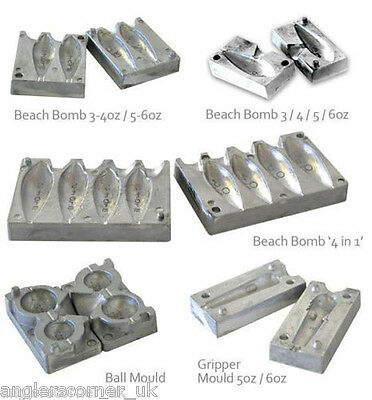 5 x  Angling Supplies  Lead Mould Clamp For Weight Making Moulds etc