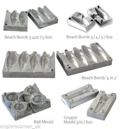 6oz BEACH BOMB WEIGHT MOULDS