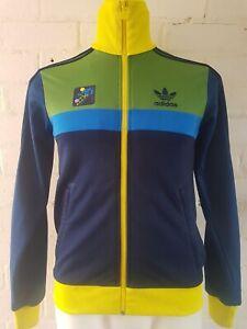 Men-s-Adidas-Originals-Track-Top-Size-XS-Jacket-Blue-Green-Yellow