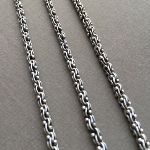 925 Sterling Silver Wheat Link Mens Chain Necklace 4mm 44GR 24Inch Handcrafted