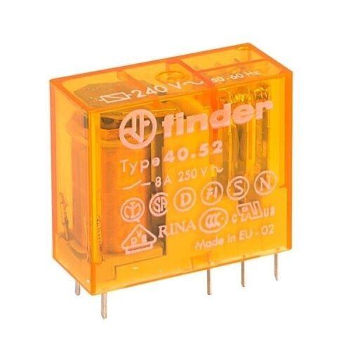 Miniatura Buscador 40.52.8.240.0000 240 V Relé Interruptor DPDT AC 8 A