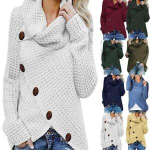 Womens-Winter-Long-Sleeve-Knitwear-Sweater-Jumper-Cardigan-Knitted-Outwear-Tops