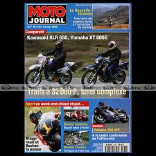 MOTO JOURNAL N°1184 KAWASAKI KLR 650 YAMAHA YZF 750 & XT 600 E NÜRBURGRING 1995