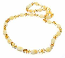 Genuine Natural Raw Polished Honey Butter Baltic Amber Necklace for Adult 54 cm
