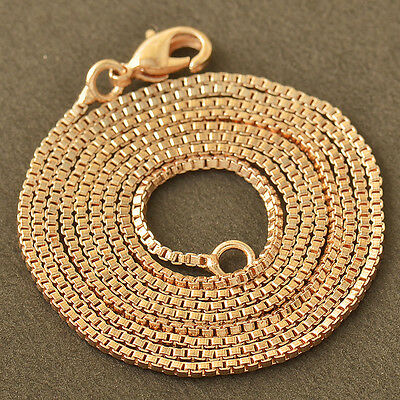 24 Inches 9K CC Rose Gold Filled Womens Chain Necklace,Z1410
