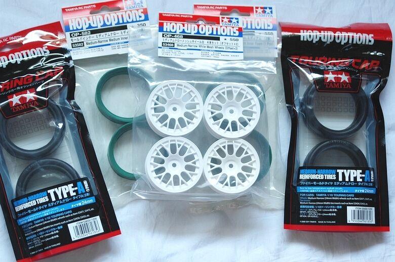 TAMIYA 1 10 RC Car F.m.M.n. Tire(53433) + Wheel(53468) + Inner(53582) set