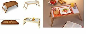Bamboo Lap Tray Folding Legs Pine Wood Wooden Over Bed