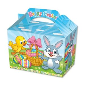 20 easter party boxes food loot lunch cardboard gift childrens image is loading 20 easter party boxes food loot lunch cardboard negle Gallery