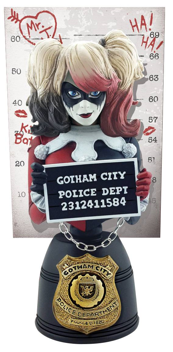 Dc harley quinn verbrecherfoto bust - variante cryptozoic entertainment