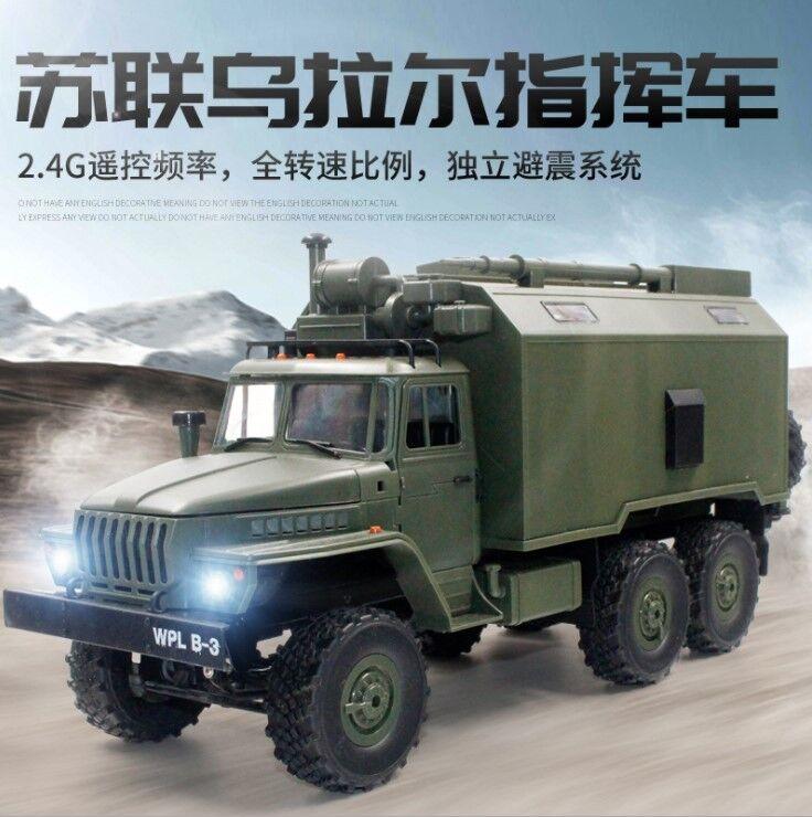 WPL 2.4G 6WD B-36 B36 Ural RC coche militar de control remoto RC Camión Vehículo de juguete