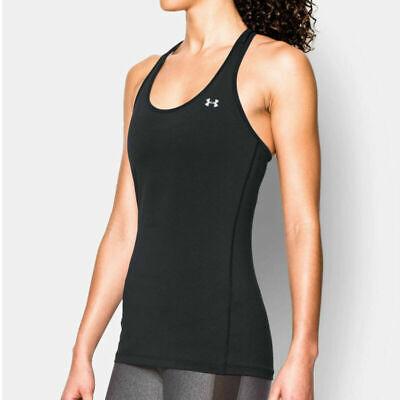 Details about  /Under Armour UA HeatGear Ladies Grey Racer Tank Sports Gym Running Vest S
