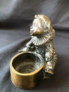 Antique Bronze Figurine Pierrot