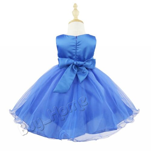 Flower Girl Dress Kids Sequins Tutu Princess Party Wedding Bridesmaid Tulle Gown