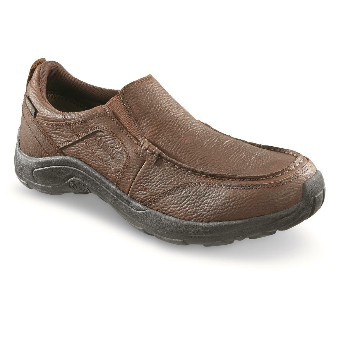 eaf767a91657b GUIDE GEAR Men s Premium Waterproof Slip On Shoes Canyon Canyon Canyon  Brown Size 12D dcdd31