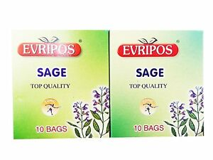 Image Is Loading Evripos Sage Tea 20 Pack Greek Top Quality
