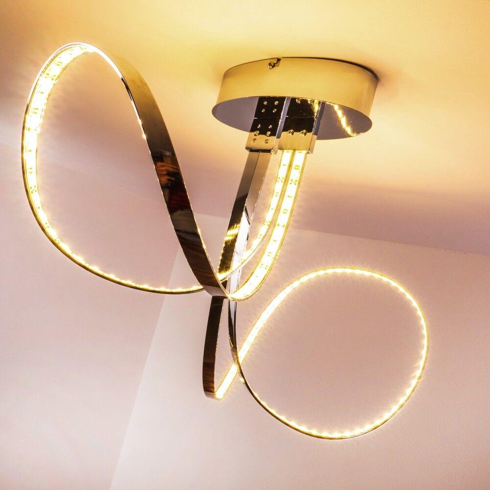 LED Deckenleuchte Design Deckenlampe Leuchte Lampe Chrom