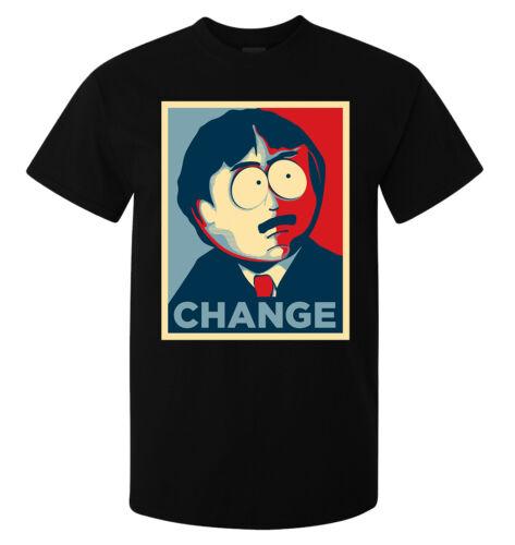 South Park Randy Marsh Change Election Obama Style men/'s top t shirt black