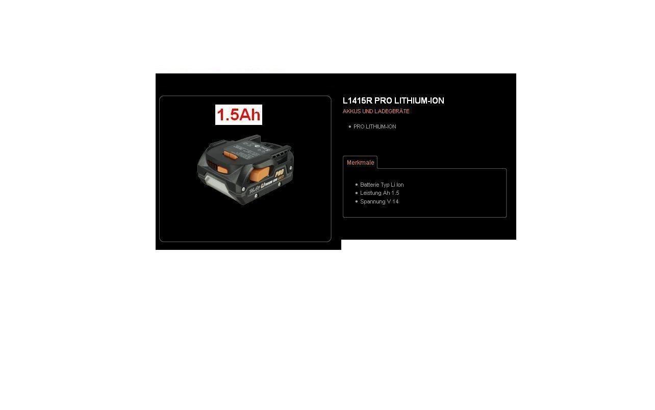 AEG Akku  Li-Ion 1,5 Ah    L1415R  4931428656