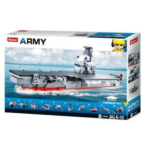 Sluban-Kids-Army-Aircraft-Building-Blocks-361-Pcs-set-Building-Toy-10-in-1-Army