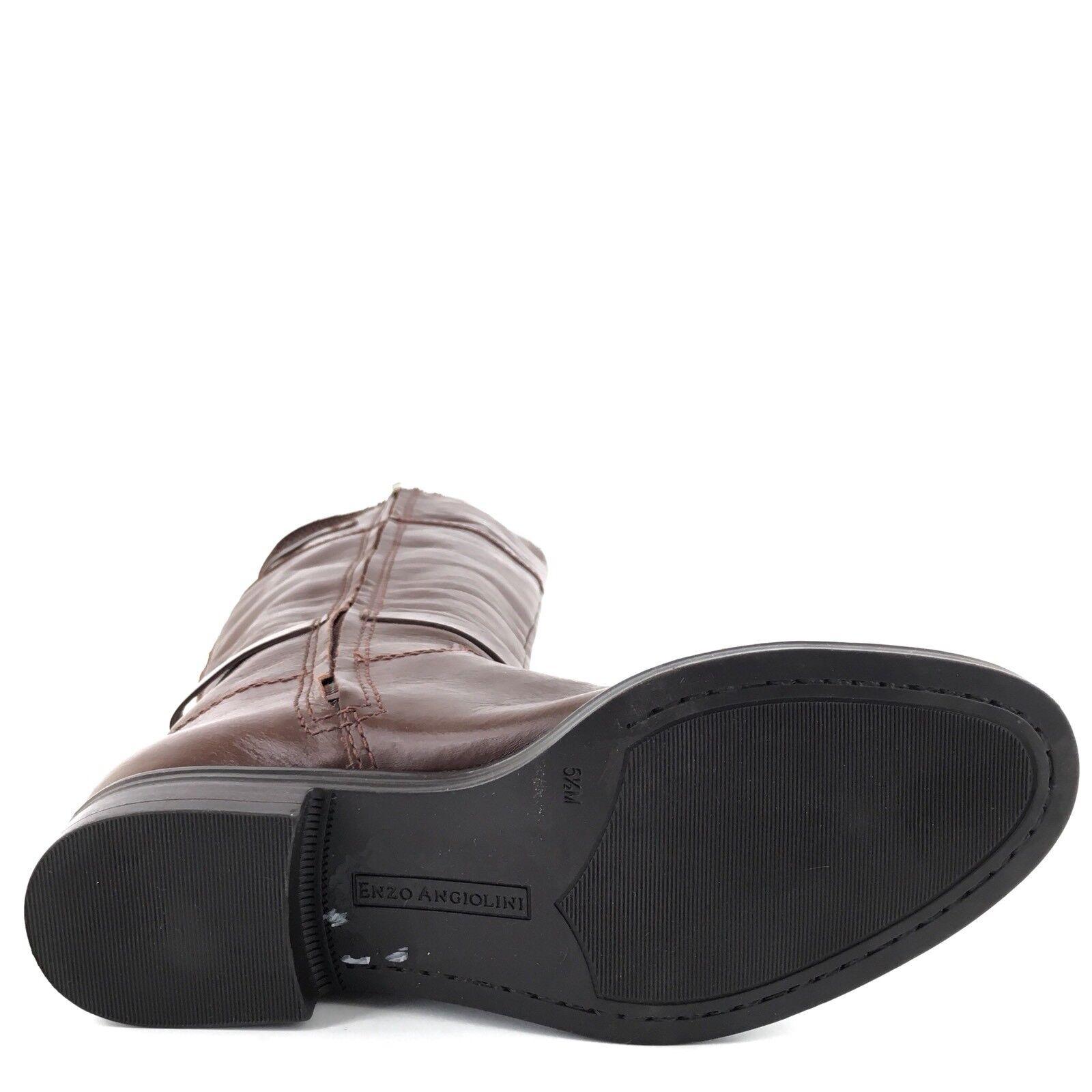 New Enzo Angiolini Eero Braun Leder Knee High Stiefel Damens's M Größe 5.5 M Damens's ^ 2d6b65