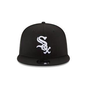 Mens-New-Era-9Fifty-Blk-Wht-MLB-Chicago-White-Sox-Basic-Snapback-11591070