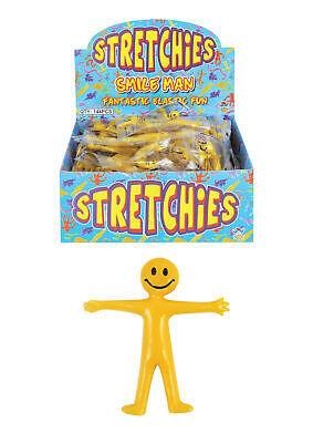 Stretchy Men Smiley Man Party Bag Filler Loot Kids Mini Stretch Man Toy 6,12,24