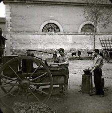 RENNES 1910 - Maréchaux Ferrants Militaires - Bretagne Positif Verre 10 x 8 - 17