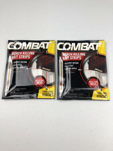 10 Count Combat Roach Killing Bait Strips Pack of 2