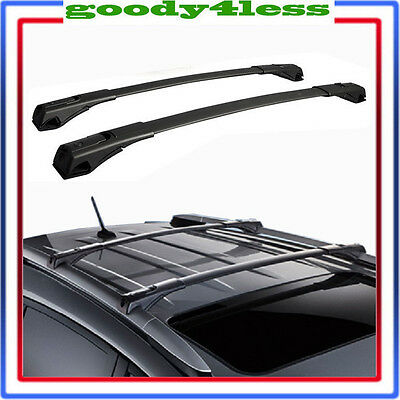For 13-17 Toyota RAV4 Black OE Style Roof Rack Cross Bars Set Luggage Aluminum