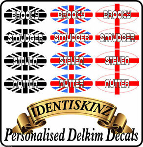 Delkim-TXI-PLUS-EV-Domed-Sticker-Decal-PERSONALISED-set-of-5-FLAG-STYLE