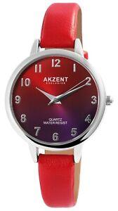 Akzent-Damenuhr-Rot-Lila-Analog-Kunst-Leder-Quarz-Armbanduhr-X1900233004