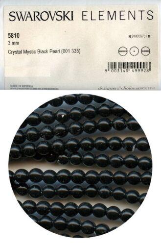 5810 3 MB *** 20 perles nacrées Swarovski réf 5810 rondes 3mm MYSTIC BLACK