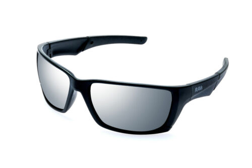 Ravs Sonnenbrille  Gläser verspiegelt   Herrenbrille schwarz Big size