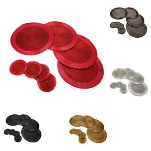 Image Is Loading Round Gl Beaded Dining Table Placemats Coaster Sets