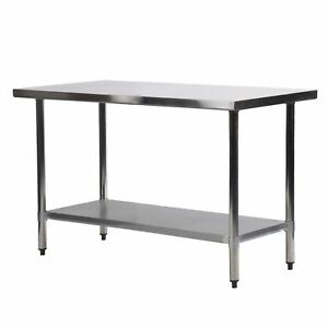 Commercial Kitchen Work Tables Commercial kitchen restaurant stainless steel work table 24 x 48 commercial kitchen restaurant stainless steel work table 24 x 48 inchs workwithnaturefo