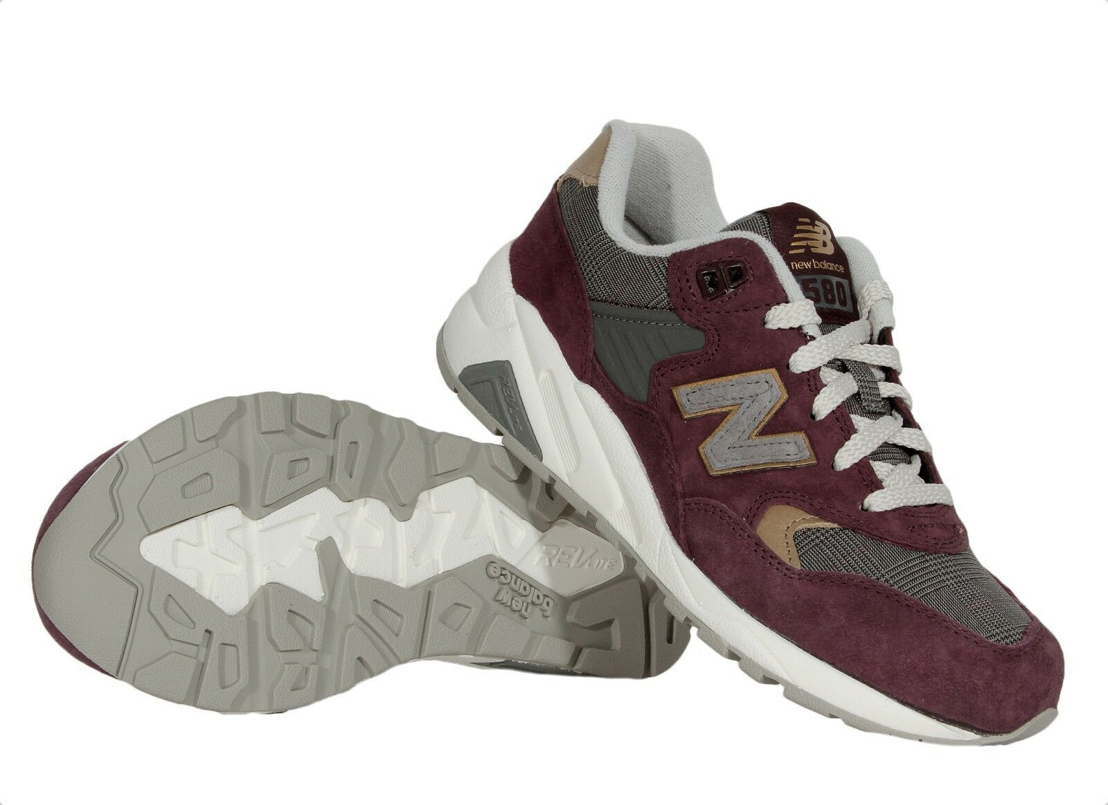 New Balance Femme 580 Classic Sneakers Chaussures WRT580WE Suede Medium (B, M)