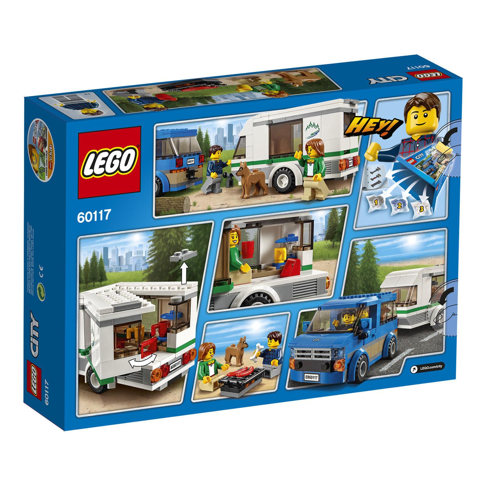 LEGO® City 60117 Van & Wohnwagen Wohnwagen Wohnwagen NEU OVP_ Van & Caravan NEW MISB NRFB f90522