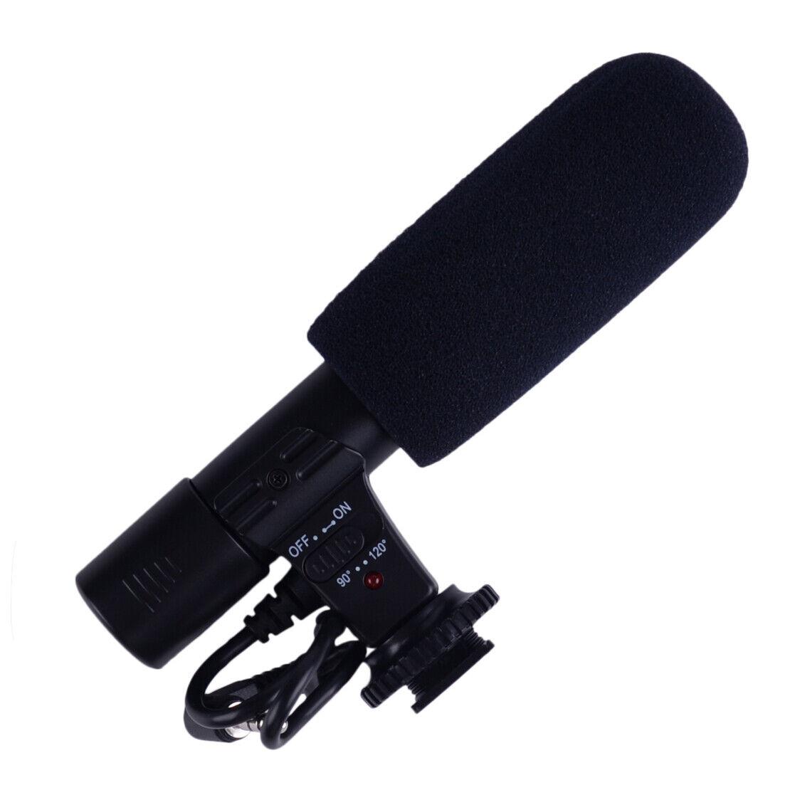 Black 3.5mm Stereo Microphone Fit For Canon Nikon DSLR Camera DV Camcorder li