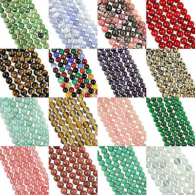 "16""  Strang Edelstein Kristall Runde Perlen 6 mm (65 + Perlen)"