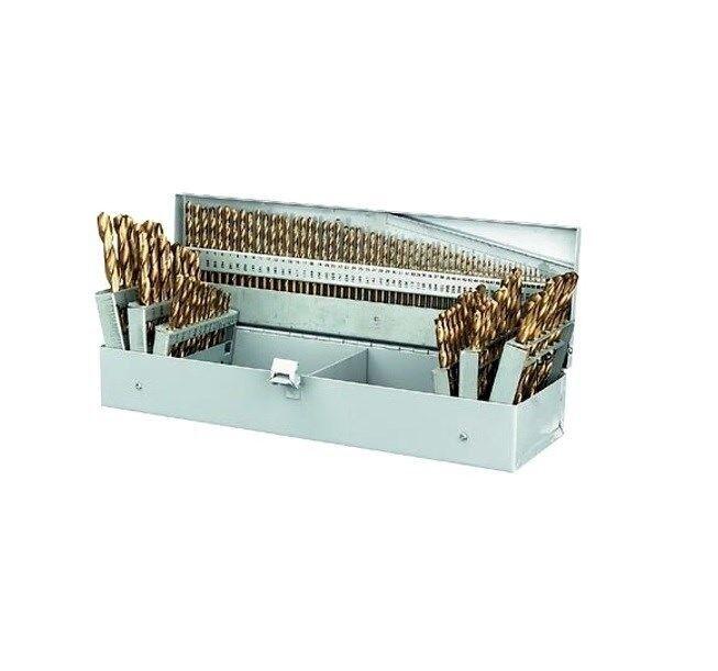 115 Pcs Titanium Drill Bit Set Titanium Coated High Speed Drill Titanium Bit
